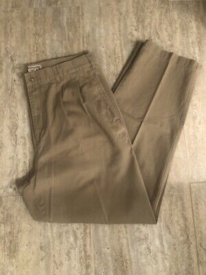 Vintage Abercrombie & Fitch Chino Pants Sz34x32 Mens Pleated Uncuffed Khakis