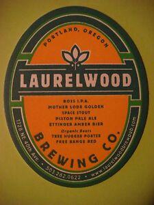 beer coaster laurelwood brewing co boss ipa portland oregon brewery ebay
