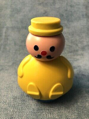Vintage Fisher Price ~ 3 Men in a Tub ~ Roly Poly Yellow Man ~ Candlestick Maker