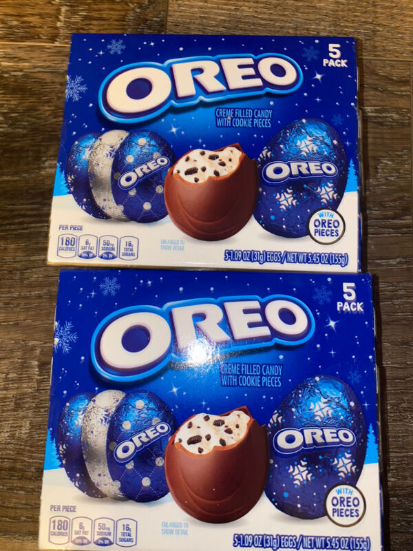Oreo Chocolate Creme Cookie Eggs 2-Boxes 10-Count 1.09 oz Each ~ Expires 02/2021