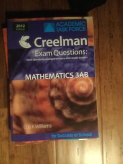 Exam Questions - Maths 3AB - Creelman
