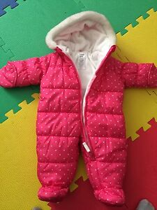 One piece winter suit for infants