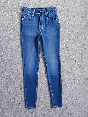 Levis Mile High Super Skinny Premium Blue Stretch Jeans Size 6 -...