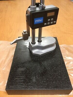 54-174-212-3 Fowler Electronic Height Gage 12 Granite Block Excellent