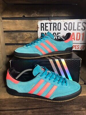 Adidas Originals Jeans MKII Trainers UK 10 Blue Pink Suede CG3242