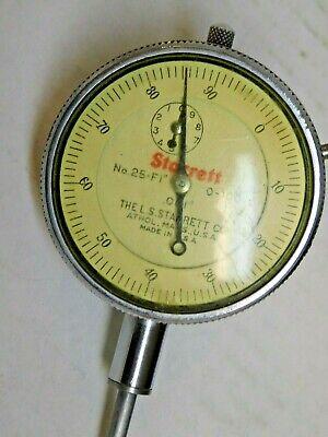 Vtg Starrett Dial Indicator No. 25-f1