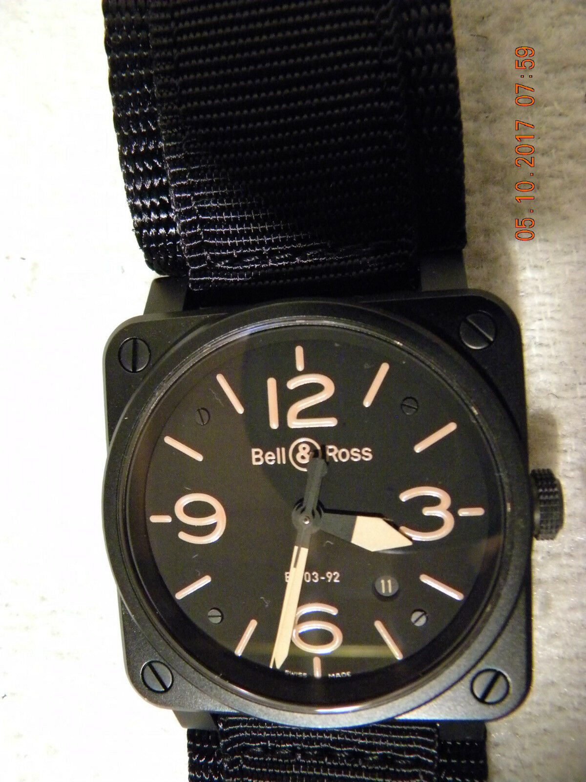 BELL & ROSS MENS BR-03-92 HERITAGE AVIATION BLACK DIAL- EVERYTHING INCL – VGC - watch picture 1