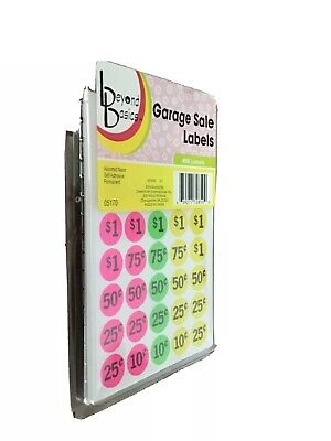 Garage Yard Sale Sticker Price Sell 360 Labels