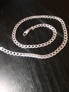 CUBAN STERLING SILVER MENS CHAIN 925 Geelong Geelong City Preview