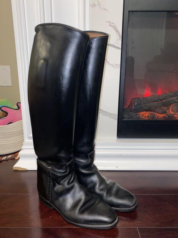Womens Konigs Grandgester Dressage Riding Equestrian Black Leather Boots Sz 7