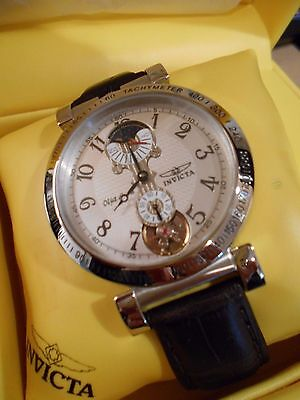 Rare INVICTA 2044 Automatic Objet d'art Tachymeter Watch and Box