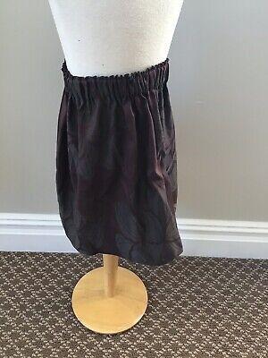 La Bottega Do Giorgia Purple Floral Skirt 6 Nwt