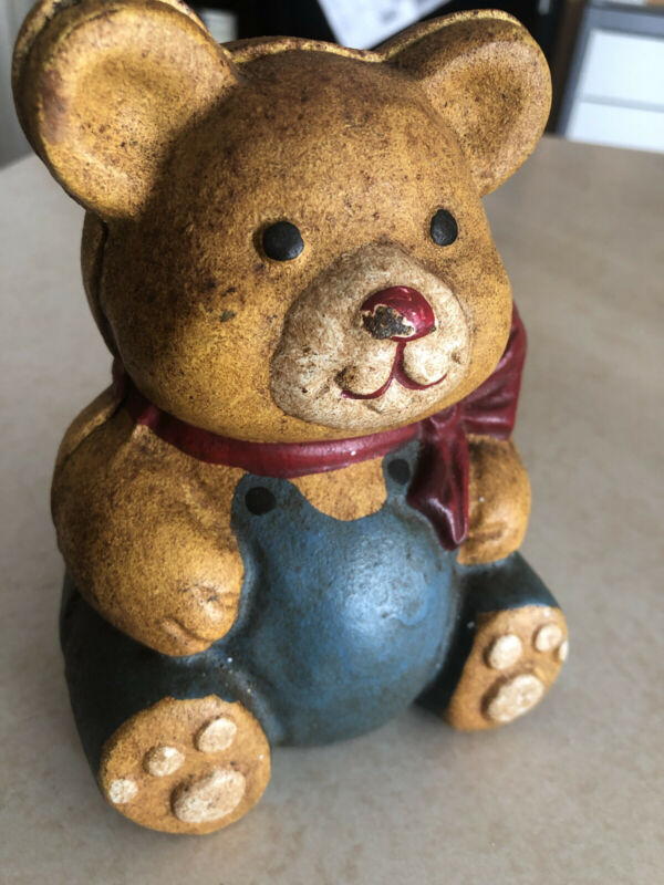 vintage cast iron Teddy Bear bank