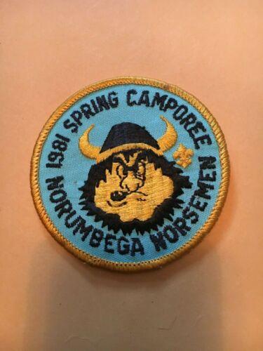 Boy Scouts  -  Norumbega Council Norsemen - 1981 Spring Camporee patch