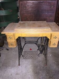 Antique Singer Treddle Sewing Table