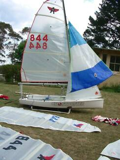 Sails (9) and Mast, Boom for Flying Ant Dinghy