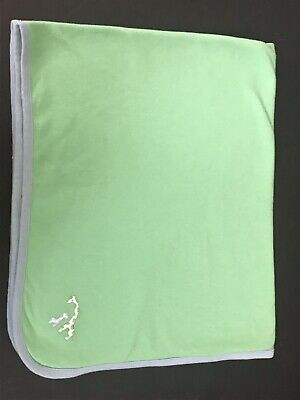 Baby Gap Giraffe Blanket Green Blue Reversible Fall 2002 for sale  Shipping to Canada