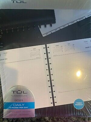 Tul 2021 Planner Refill Daily 2 Pages Per Day