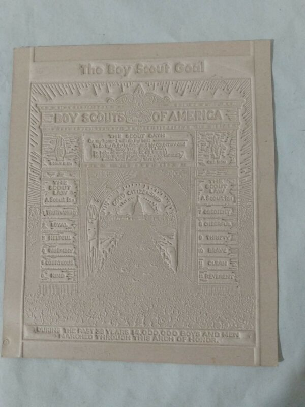 The Boy Scout Goal BSA Oath Law Arch Of Honor 1948 Card