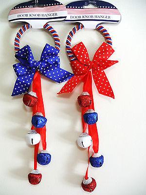 Patriotic Knobs (4TH OF JULY DECOR DOOR KNOB HANGER ..PATRIOTIC DOOR KNOB HANGER,, )