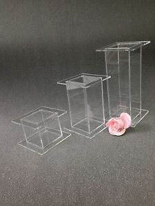 three tier square wedding cake stand square cascade 3 tier acrylic wedding cake display stands 20937