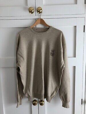Mens medium beige VALE DO LOBO golf thin sweater jumper