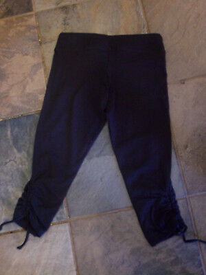 AVANI ORGANIC GIRLS YOGA CAPRI PANTS/ LEGGINGS IN BLACK SIZE XS  NEW