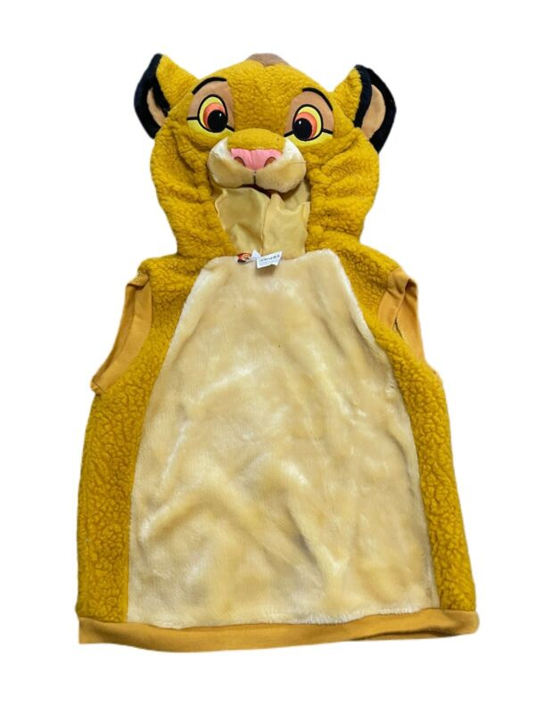 Disney The Lion King Simba Halloween Costume Size 4/6 Top Only
