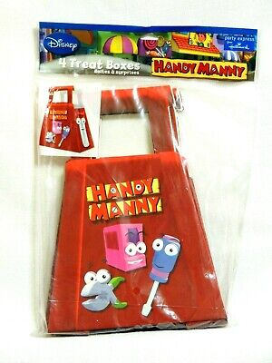 NEW   HANDY MANNY 4- PAPER TREAT BOXES 5 1/4