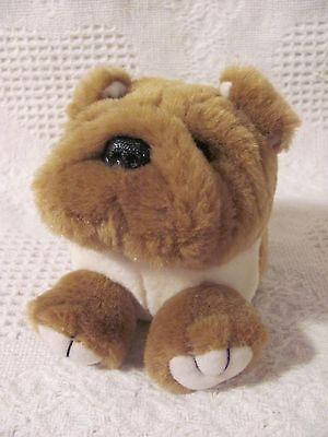 Swibco PUFFKINS Plush BOSLEY Bull Dog Puppy #6654 DOB 3-09-98 Bean Bag no tag