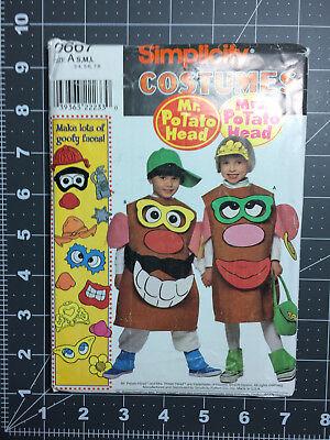 Simplicity #8390 ~ Costume Pattern Mr & Mrs Potato Head ~ Size S, M & L ~ FF UC - Baby Potato Costume