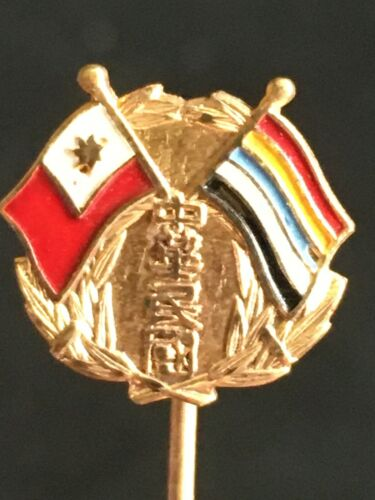 👍 RARE 1910s CHINA NEW REPUBLIC REVOLUTIONARY FLAGS BREAST PIN 新共和旗帜胸针