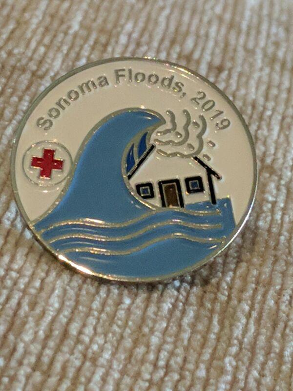 American Red Cross ARC Sonoma Floods 2019 Pin Bin 8/26
