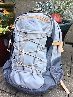 THE NORTH FACE BOREALIS Backpack Gray Student Laptop Travel Hiking Bag