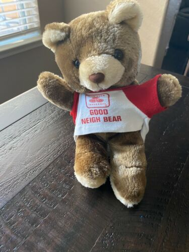 "State Farm Insurance Advertising Plush Brown Teddy Bear 10"" Good Neigh Bear"