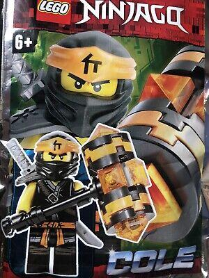Lego Ninjago Cole With Cyber Hammer And Katana Mini Figure Polybag
