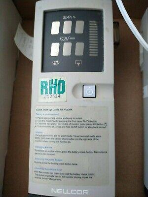 Nellcor N-20 Handheld Portable Pulse Oximeter Spo2 With Case