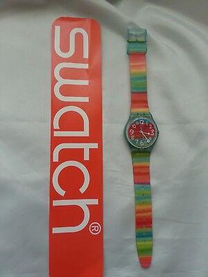 Womens Original Striped Swatch Watch G5124