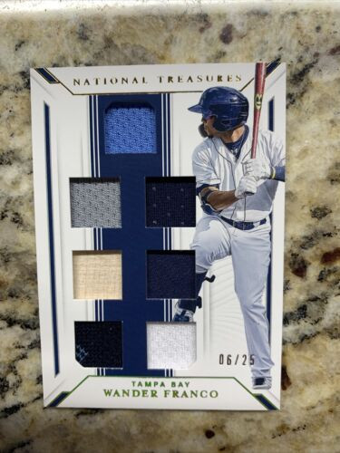 WANDER FRANCO 2019 National Treasures 7 Patch RC # /25 Tampa Bay Rays Rookie SP