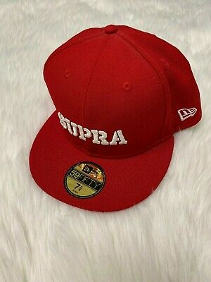 Supra Mens Above Hat Formula Red/White New Size 7 (Normal Hat Size)