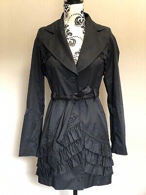 Ladies Black Kensie Belted Jacket/Mac - Size S Women Coat 🧥