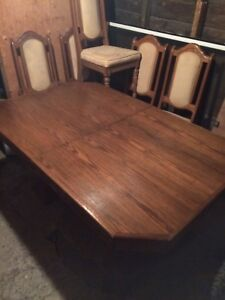 Dinning room table and chair set