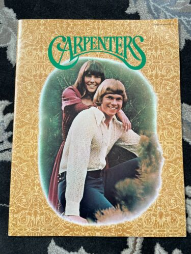 Rare Vintage 1971 Carpenters Concert Tour Program Karen & Richard Carpenter