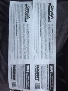 2canadas wonderland tickets