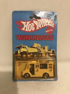 GOOD HUMOR TRUCK  5904         1979 HOT WHEELS WORKHORSES   1:64  UNPUNCHED CARD