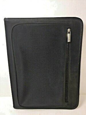 Volvo Zippered Black Padfolio Folder 11 X 14 Portfolio Notebook Planner Nice