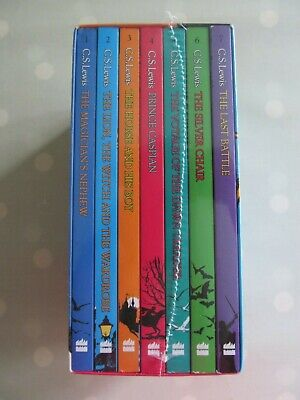 THE CHRONICLES OF NARNIA BY C S LEWIS 7 VOLUME BOX SET HARPER COLLINS