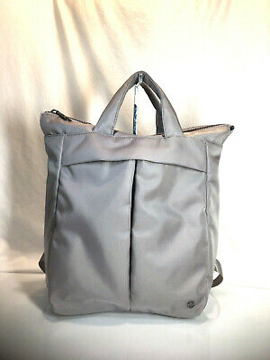 LULULEMON City Adventurer Convertible Backpack Tote Bag Light Gray