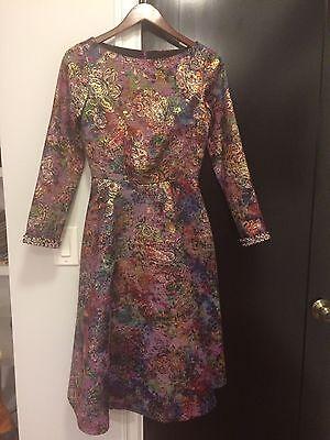 Gregg Pellegrini Brocade Dress NWT Size 4 Designer Party Tea Length](Brocade Dress Designs)