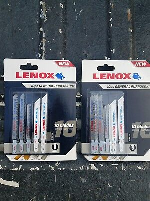 Lenox 10 Piece General Purpose 10 Blade Bi-Metal Kit T-Shank New 10 General Purpose Blade